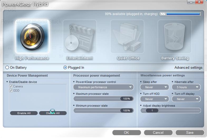 Asus K53TA Notebook Power4Gear Hybrid Drivers Windows XP